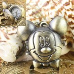 Fancy Antique Style Mouse Necklace Clock Pocket Watch 192%