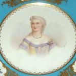 ANTIQUE SEVRES HAND PAINTED PORTRAIT PLATE Mme DUBARY G PERIERS