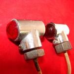 6 Volt Glass Jeweled Lenses Old Marker Lamps Vintage Antique