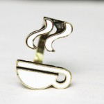 Punk Glaze White Heat Bow Antique Bronze Ring Size