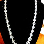 Vintage / Antique Necklace Length In Inches 18 Old Clear Crystal Beads Amaizing.