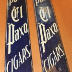 Antique El Paxo Cigars Porcelain Door Push Sign Pair Very Rare Early 1900's