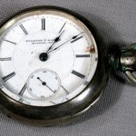 NiceLooking Rockford Pocketwatch Needing Repair  4 Ounce Coin Silver Case