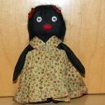 Antique Old Primitive Black Americana Folk Art Cloth-Rag Doll