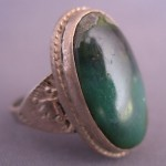 Antique Vintage Chunky Old Pawn Sterling Malachite