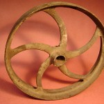 Vintage Pulley Gear Cast Iron Industrial Factory Steampunk