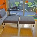 Rare Midcentury Inco Lounge Chair Ottoman Mccobb Schindele Grossman Knoll Era