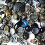 Lot of 220 Antique Victorian Metal and Glass Buttons