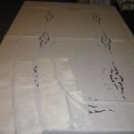 Vintage Madeira Linen Tablecloth W/12 Matching Napkins