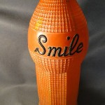 Antique 1922 1 Gallon Orange Smile Soda Fountain Display Advertising Bottle Sign