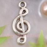 Antique Silver Music Note Charm CC4469