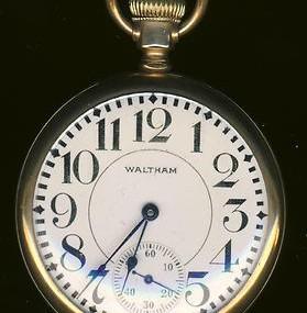 Waltham Vanguard Pocket Watch Railroad Fahys Montauk Gold Case
