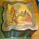 Rare Antique Keens Mustard Tin American Indians Buffalo Tin