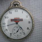 Vintage Elgin Harleydavidson Motorcycle 17 Jewels Pocket Watch