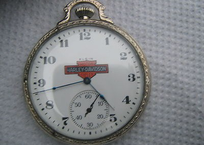 Vintage Elgin Harleydavidson Motorcycle 17 Jewels Pocket Watch