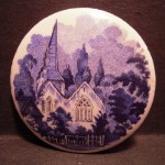 Absolutely Beautiful Antique Handmade Large Porcelain Button