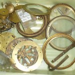 Antique Old Vintage Clock Assorted Spare Parts