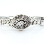 Hamilton Antique 18kt Diamond Deco Watch Ladies