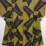 Japanese Kimono Silk Antique Meisen Kimono Woven Yabane