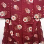 Japanese Kimono Silk Antique Meisen Hitoe Kimono