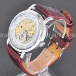Luxury antique Classic Mens Date Skeleton Mechanical Band Watch