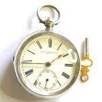 Beautiful Antique Hallmarked Silver Victorian Open Face Pocketwatch Dated 1888