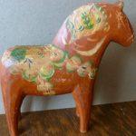 Antique Vintage Dala Horse Sweden Wooden Folk Art