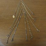 Nice Antique Vintage Lot of 5 Gold Toned Men's Watch Chains