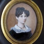 Antique 1800's Victorian Finely Painted Portrait Miniature of Young Lady