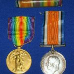 Antique World War I Medal Duo NAMED  Pte. JR SHULL 5th Canadian Infantry 925956