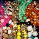 Lot of 46 Vintage/Antique MULTI STRAND NECKLACES lucite crystal art glass