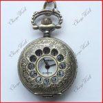 Antique Bronze Case Pocket Watch With Chain Unisex GL21