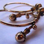 PAIR OF ANTIQUE VICTORIAN GOLD PLATE BRIDAL BRACELETS