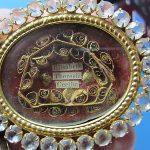 large ANTIQUE reliquary SAINT elizabeth // SAINT therese // SAINT cecilia