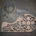 Antique Brass National Cash Register printer cover
