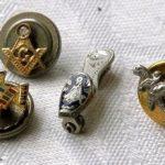 Antique 4 MASONIC Mason Fraternal Lapel Pins Wonderful Older Pins