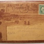 LA JOLLA & CORONADO CA 1917 Antique Postcard Folder BiPlane 24 views Aeroplane