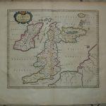 IRELAND UNITED KINGDOM 1654 BLAEU ANTIQUE COPPER ENGRAVED CHART