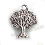 40  Wholesale Antique Silver Charms Banyan Alloy Pendants Fit Necklace 141541