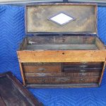 Old Antique Vintage Oak Machinist Wood Tool Chest Box / Toronto Ontario Canada