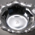 EXQUISITE ANTIQUE TIFFANY & CO. ETCHED STERLING SILVER BOWL 17.9 OZ