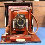 Antique KORONA III GUNDLACH OPTICAL CO Folding Camera w Film Holders