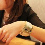 Coming Antique Vintage Style So Cute Fashion Owl Bangle Bracelet White Free