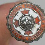 Antique Boston University Enameled Hat Pin