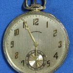 Circa 1925 Illinois Abraham Lincoln Open Face Antique Pocket Watch 10s 38mm