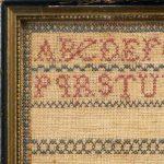 Old ANTIQUE 1880's HAND EMBRIODERED SAMPLER Lottie MISS BALDWIN's SCHOOL Aged 12
