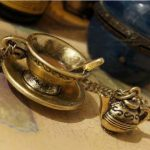 Antique style coffee cup coffeepot charm Necklace X62