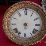 Ansonia Antique Statue Clock Movement/ Dial/Bezel