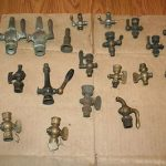 LOT 2 of PET COCKS AND VALVES STEAM HIT MISS GAS ENGINE ANTIQUE ORGINAL BRASS