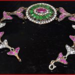 0.99  ANTIQUE TURKISH EMERALD/RUBY BRACELET FOR WEDDING/PARTY/ANNIVERSARY